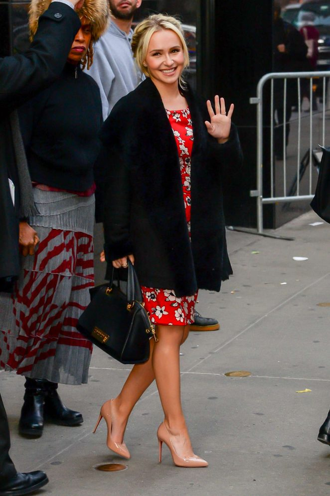 Hayden Panettiere: Arrives at Good Morning America -03