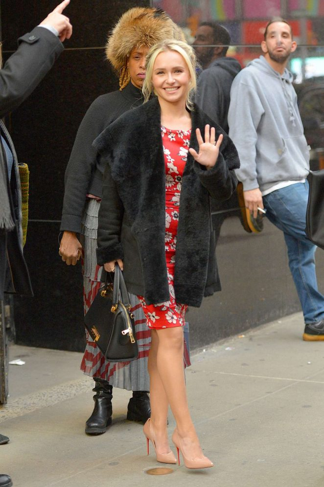 Hayden Panettiere: Arrives at Good Morning America -04