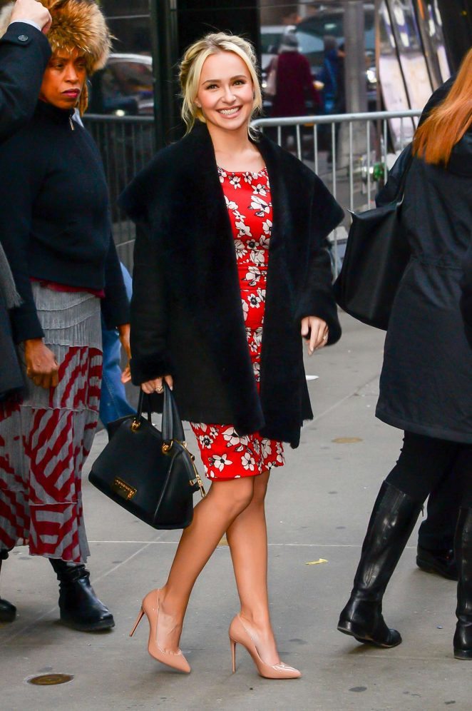 Hayden Panettiere: Arrives at Good Morning America -08