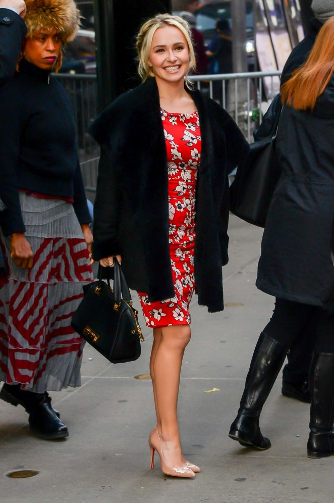 Hayden Panettiere: Arrives at Good Morning America -09