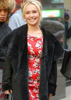 Hayden Panettiere - Arrives at Good Morning America in New York