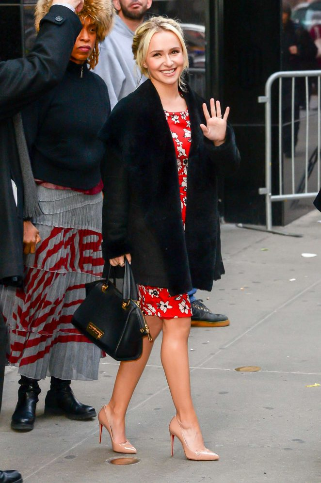 Hayden Panettiere: Arrives at Good Morning America -20