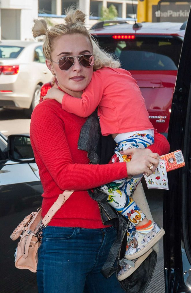 Hayden Panettiere at LAX airport in Los Angeles