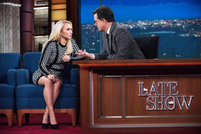 Hayden Panettiere at 'The Late Show With Stephen Colbert' in New York