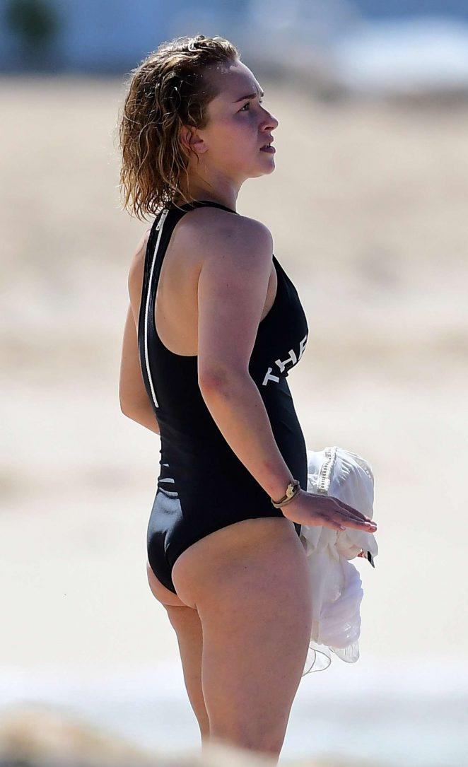 Hayden Panettiere in Black Swimsuit 2018 -22