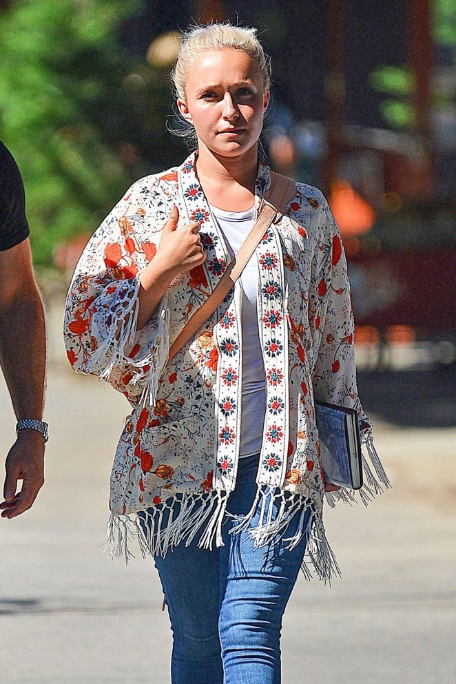 Hayden Panettiere in Jeans out in New York City