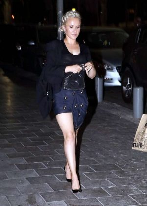 Hayden Panettiere in Mini Skirt out in Tel Aviv