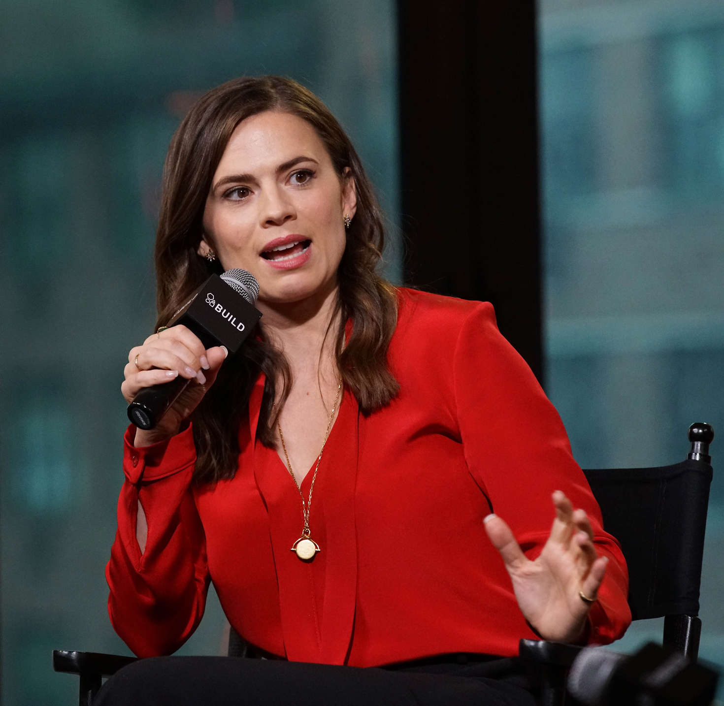 Hayley Atwell 2016 : Hayley Atwell: AOL Build Speaker Series -04