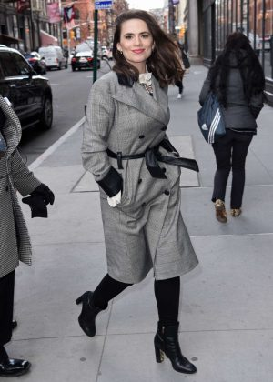 Hayley Atwell - Arrives at AOL Build Series Studio in New York City