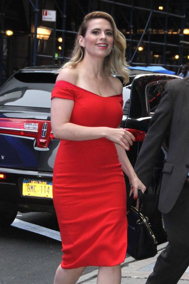 Hayley Atwell - Arrives at 'Good Morning America' in New York