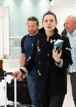 Hayley Atwell - Arrives at Heathrow Airport from Los Angeles