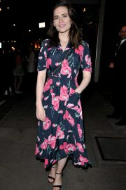 Hayley Atwell - Arrives at 'Rosmersholm' theatre cast departures in London