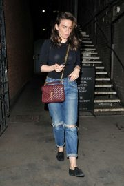 Hayley Atwell in Ripped Jeans - Out and about in London