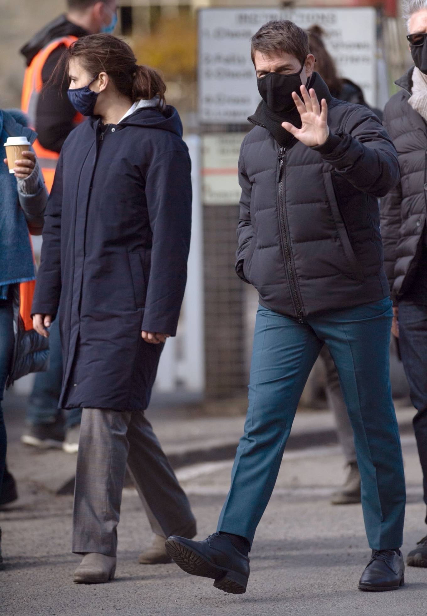 Hayley Atwell - on set of 'Mission Impossible 7' in Yorkshire