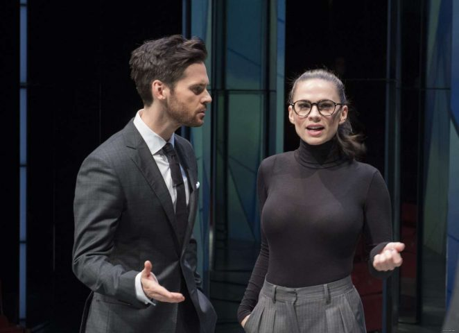 Hayley Atwell - On stage in Dry Powder inLondon