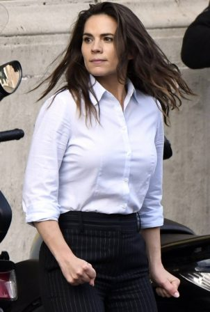 Hayley Atwell - On the set of Mission Impossible 7
