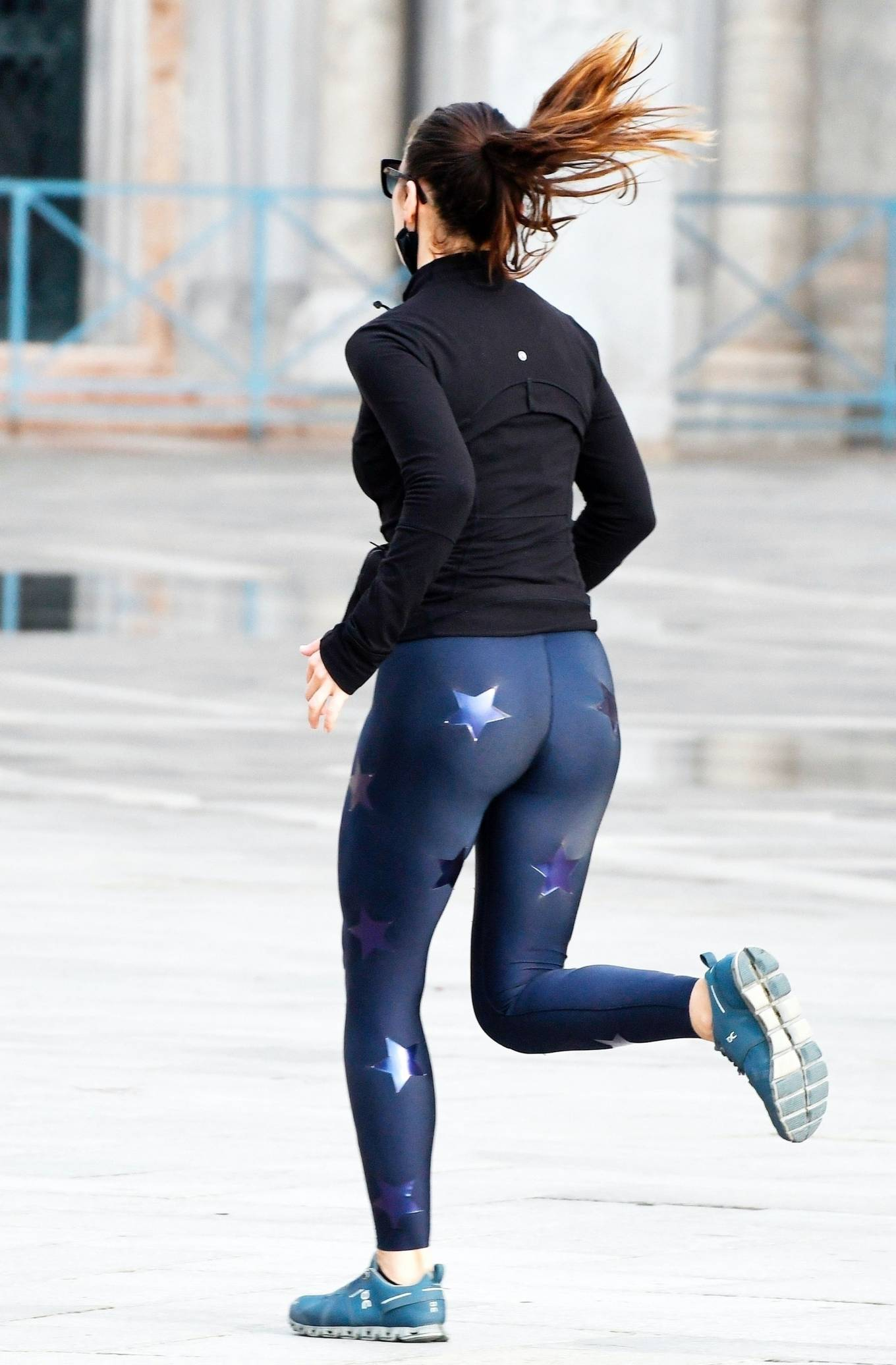 Hayley Atwell - Pictured while jogging in Venice