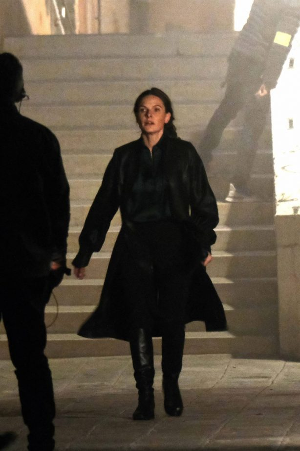 Hayley Atwell - Seen after set for 'Mission Impossible 7' in Venice
