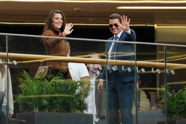 Hayley Atwell - With Tom Cruise on 'Mission Impossible 7' set in Birmingham