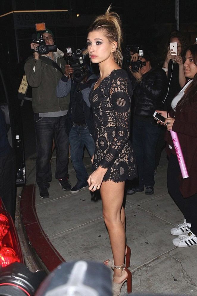 Hayley Baldwin - Justin Bieber's American Music Awards After Party in Hollywood
