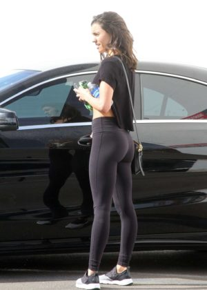Hayley Erbert in Tights out in Los Angeles