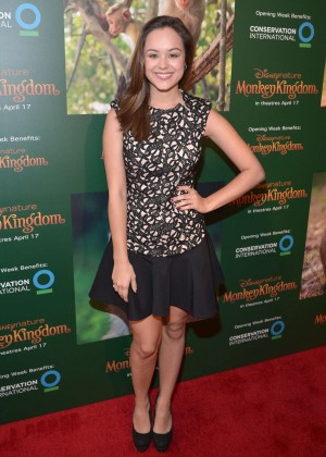 "Hayley Orrantia - ""Monkey Kingdom"" Premiere in LA"