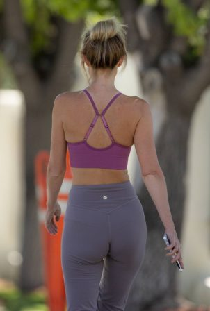 Hayley Roberts Hasselhoff in Tights and Sports Bra - Out in Calabasas