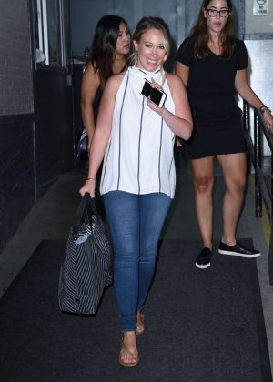 Haylie Duff at AOL BUILD Studios After Promoting Haylie's America in New York