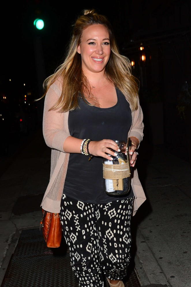 Haylie Duff - Leaving Taco Madera in West Hollywood