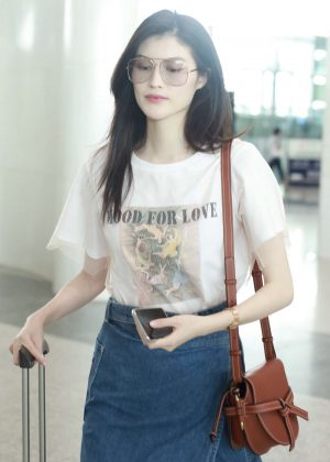 He Sui at Beijing International Airport