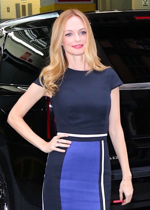 Heather Graham Arriving at 'AOL Build' in NYC