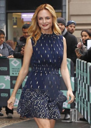 Heather Graham - Arriving at the AOL Build Speaker Series in NY