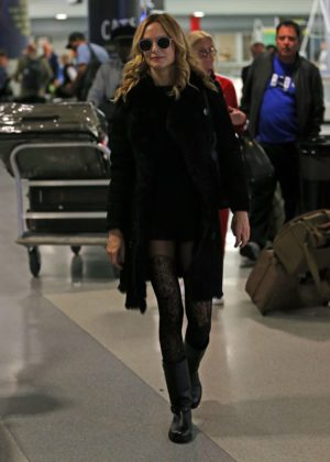 Heather Graham at JFK airport in New York City