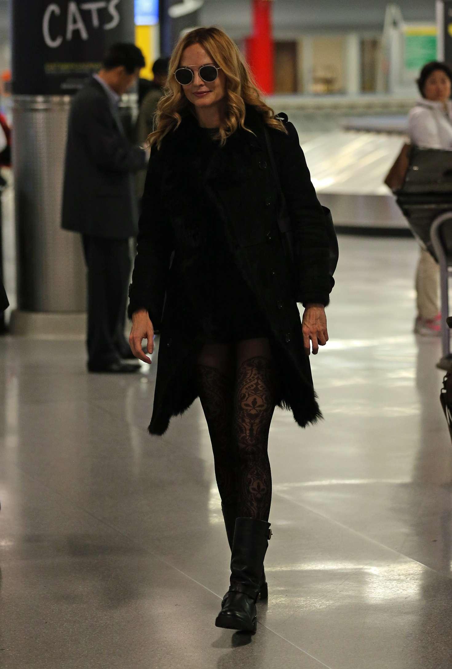 Heather Graham 2017 : Heather Graham at JFK airport -04