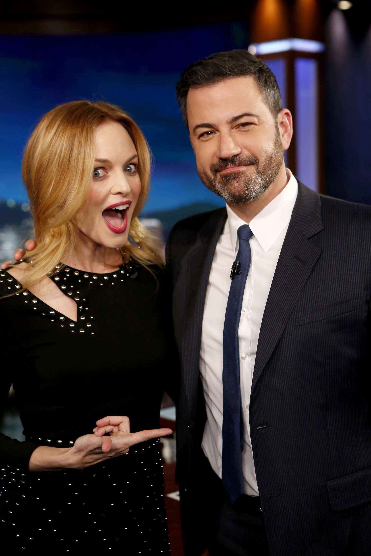 Heather Graham at Jimmy Kimmel Live! in Los Angeles