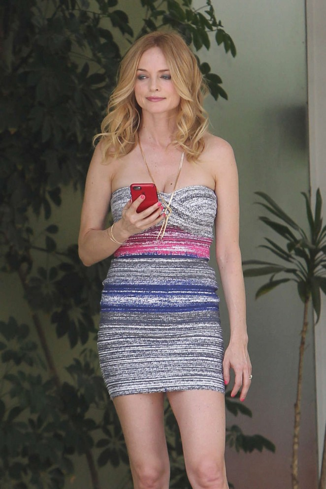"Heather Graham - Filming her new TV show ""Studio City"" in LA"