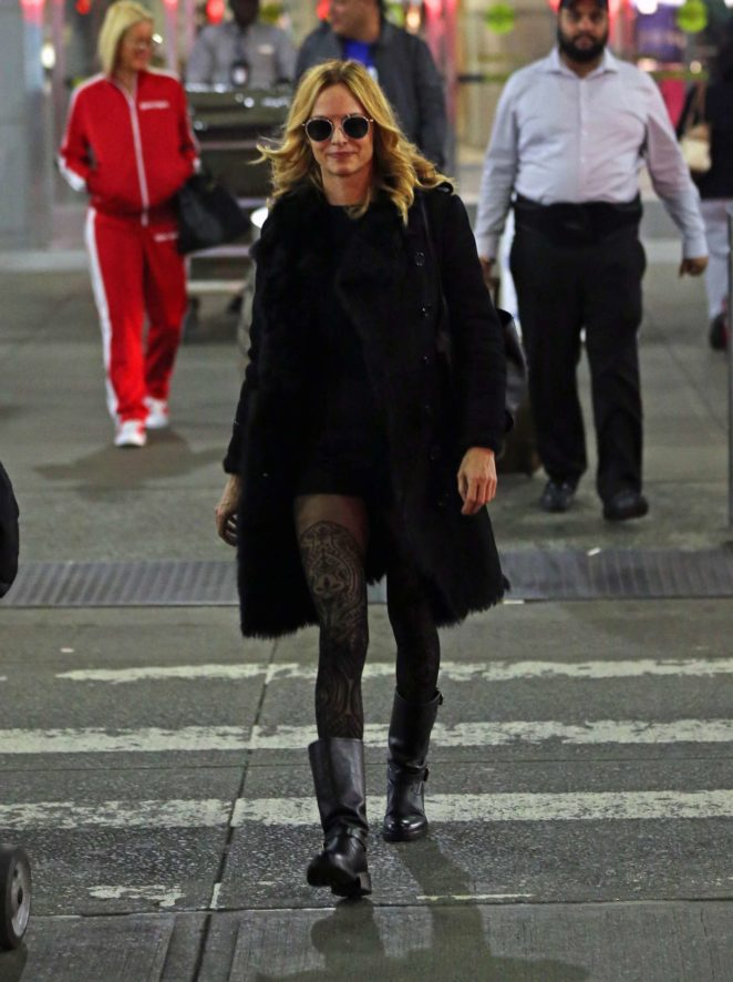 Heather Graham - JFK Airport in New York