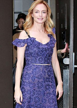 Heather Graham - Leaves the 'Today' show in NYC