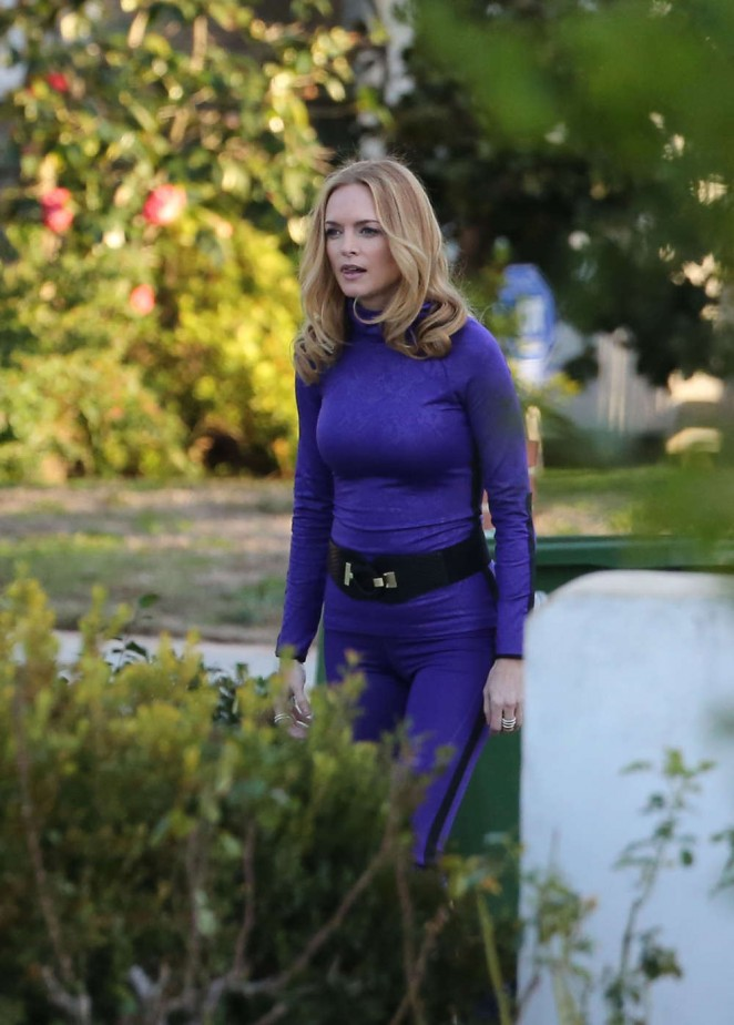 Heather Graham on the set of Angie Tribeca -05