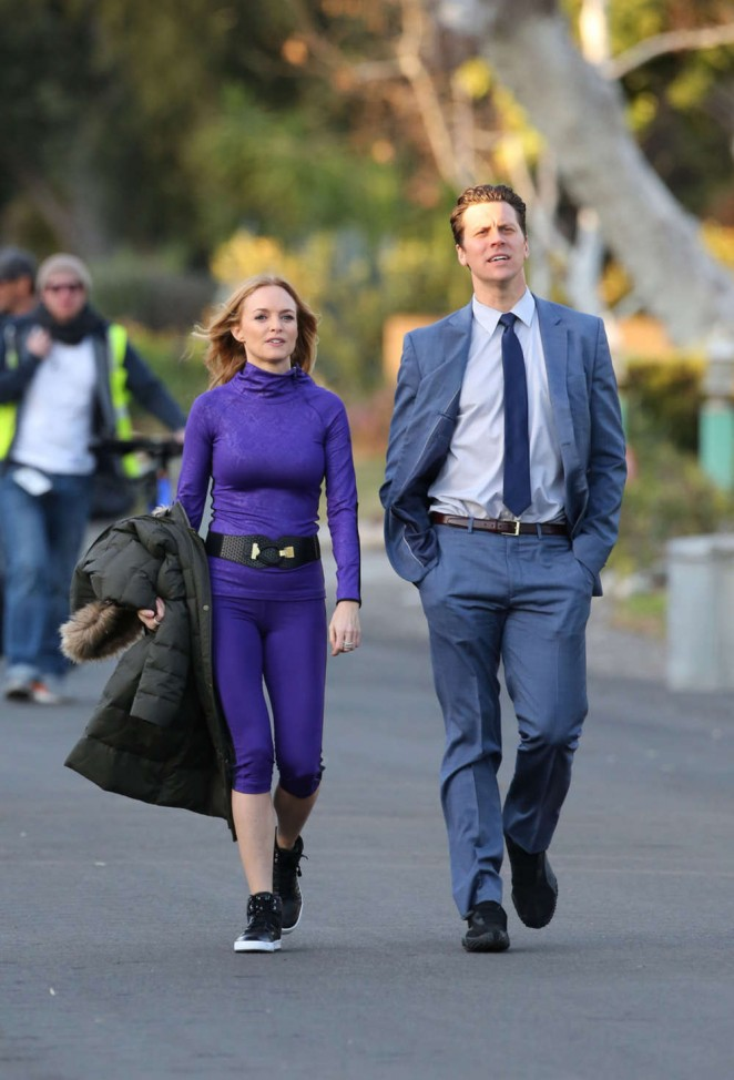 Heather Graham on the set of Angie Tribeca -10