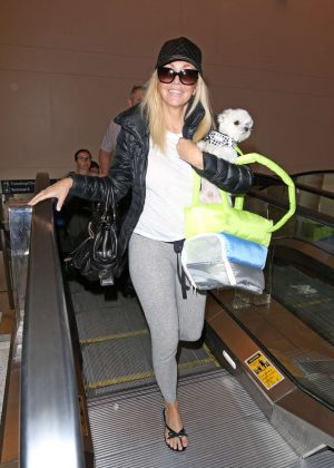 Heather Locklear - Arrives at LAX Airport in Los Angeles