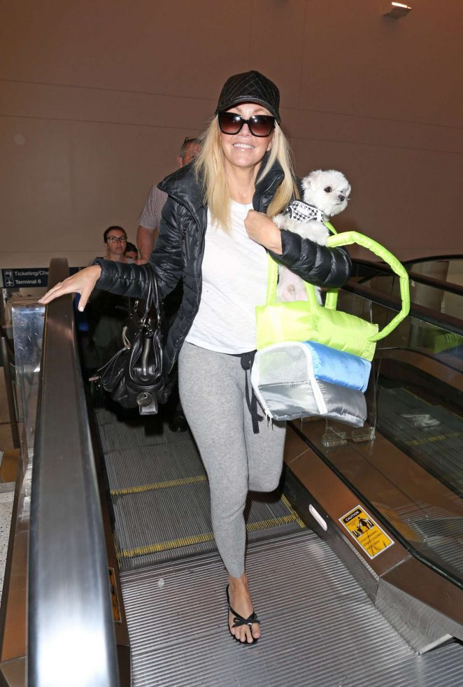 Heather Locklear – Arrives at LAX Airport in Los Angeles