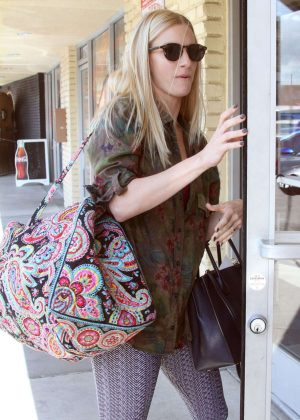 Heather Morris - Arrives at DWTS in Los Angeles