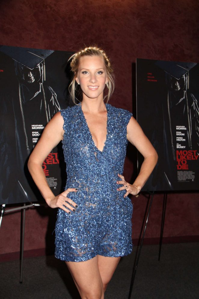 Heather Morris - 'Most Likely to Die' Premiere in Los Angeles