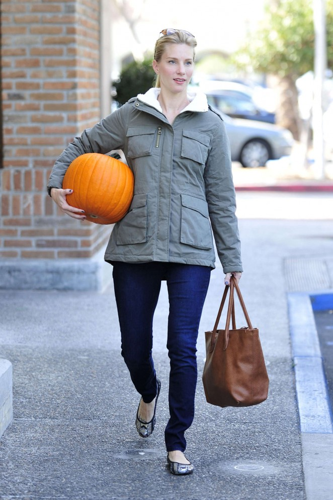 Heather Morris - With a pumpkin out in Calabasas
