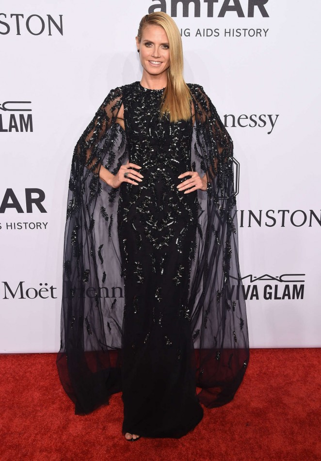 Heidi Klum – 2016 amfAR New York Gala in NYC
