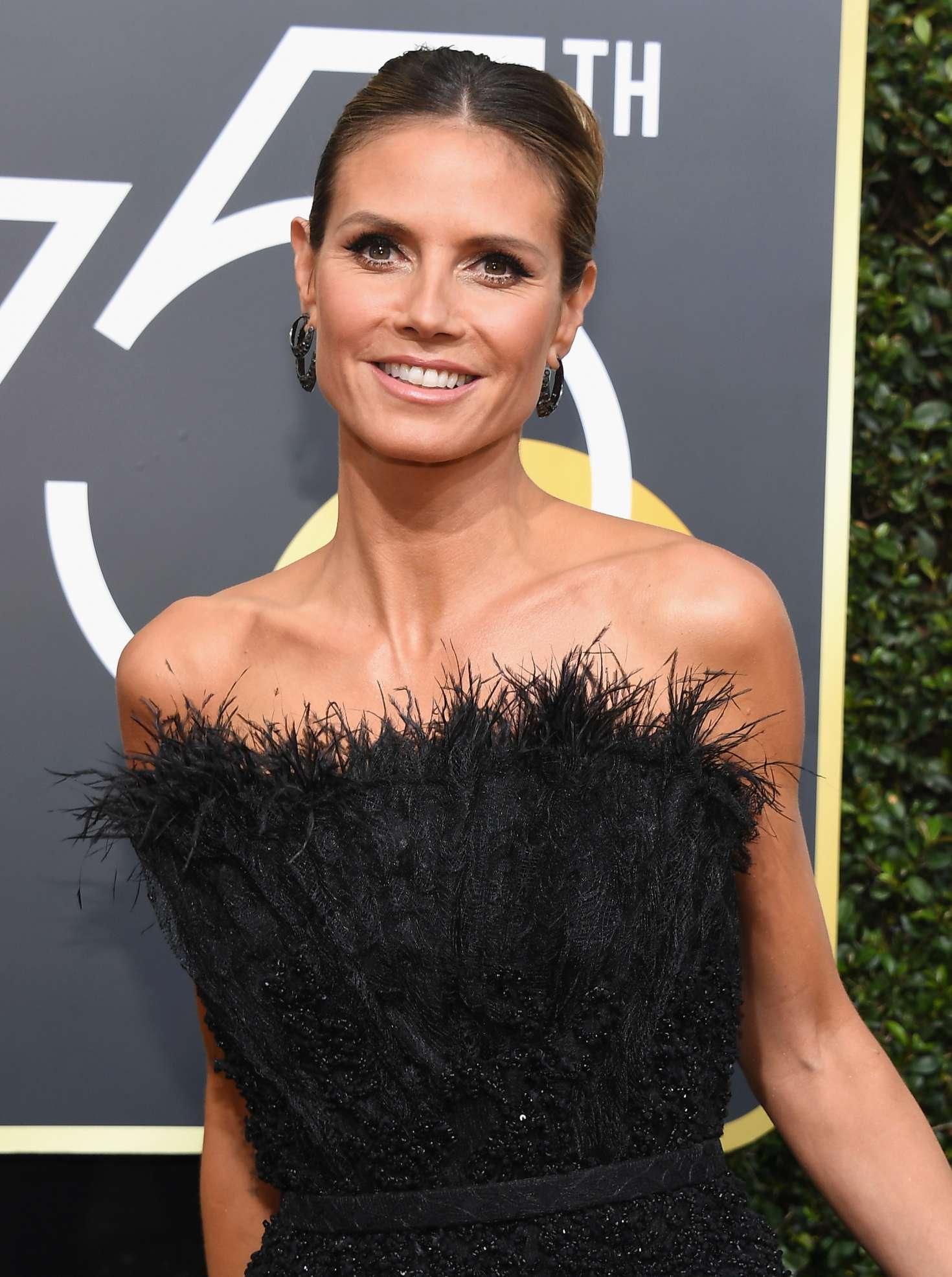 Heidi Klum 2018 Golden Globe Awards In Beverly Hills