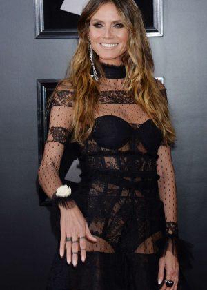 Heidi Klum - 2018 GRAMMY Awards in New York City