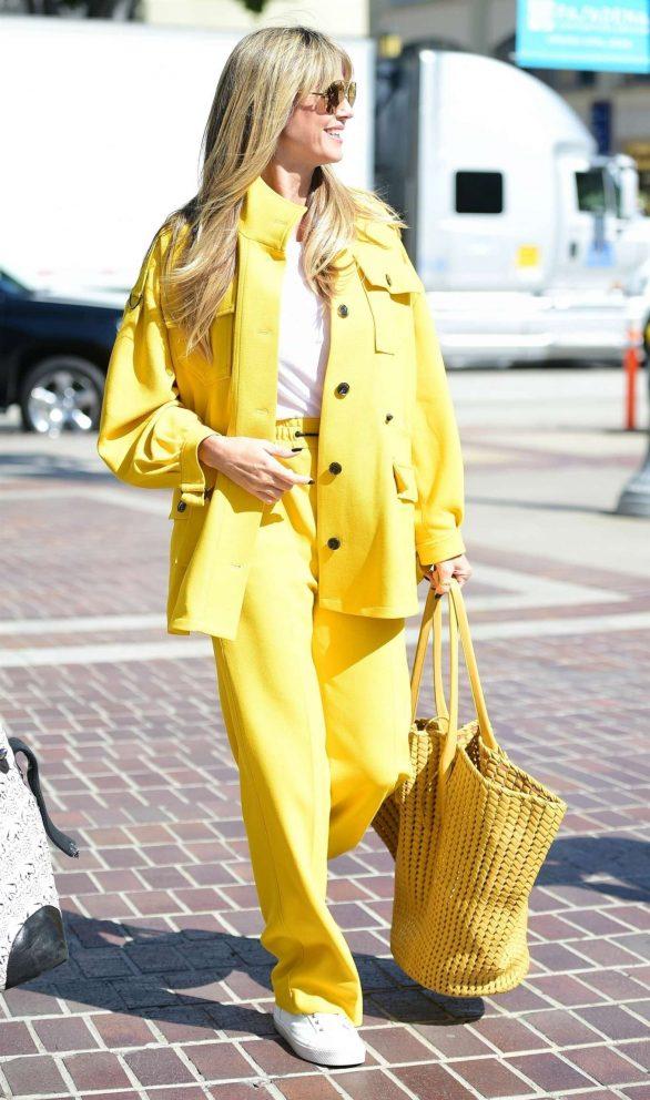 Heidi Klum - All yellow at America's Got Talent Finals