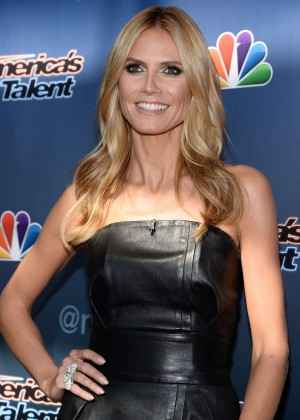 "Heidi Klum in Leather Dress at ""America's Got Talent"" Season 10 Auditions in Newark"